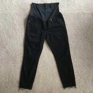GAP Maternity True Skinny Distressed Jeans 30